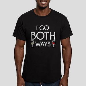 I Go Both Ways Men's Fitted T-Shirt (dark)