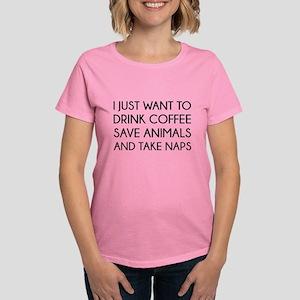 I Just Want To Women's Dark T-Shirt
