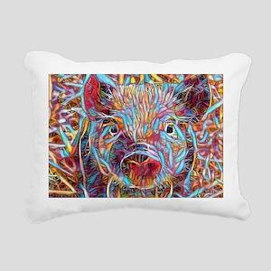 Funky Little piglet Rectangular Canvas Pillow