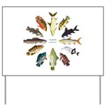 African Fishes Clock I Yard Sign