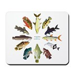 African Fishes Clock I Mousepad