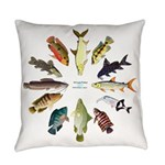 African Fishes Clock I Everyday Pillow