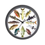 African Fishes Clock I Wall Clock