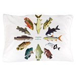 African Fishes Clock I Pillow Case