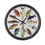 African Fishes Clock I Large Wall Clock