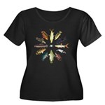 African Fishes Clock I Plus Size T-Shirt