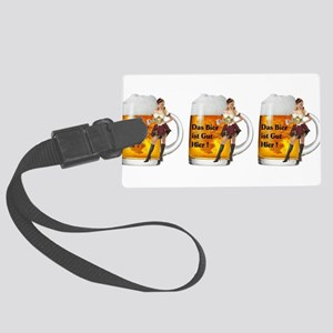 German Beer Girl Large Luggage Tag