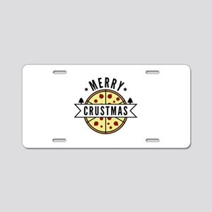 Merry Crustmas Aluminum License Plate