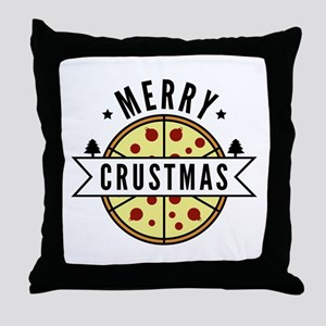 Merry Crustmas Throw Pillow