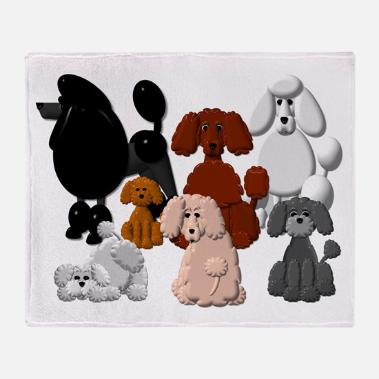 Poodle Pack Throw Blanket
