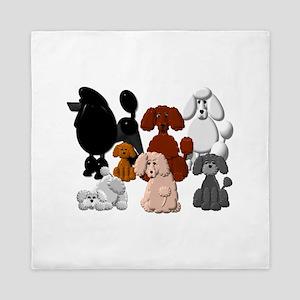 Poodle Pack Queen Duvet
