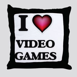 I love Video Games Throw Pillow