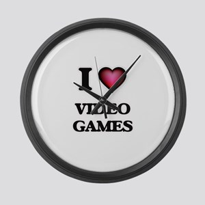 I love Video Games Large Wall Clock
