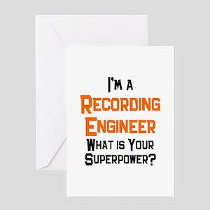 recording engineer Greeting Card