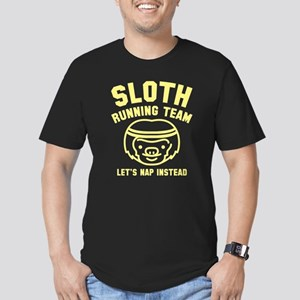 Sloth Running Team Men's Fitted T-Shirt (dark)