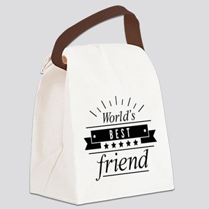 World's Best Friend Canvas Lunch Bag