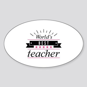 World's Best Teacher Sticker (Oval)
