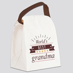 World's Best Grandma Canvas Lunch Bag
