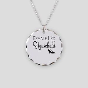 Female Led Household Necklace Circle Charm