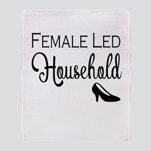 Female Led Household Throw Blanket