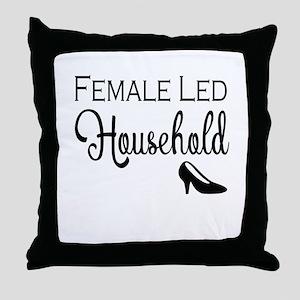 Female Led Household Throw Pillow