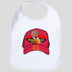 President Trump 45 Baby Bib