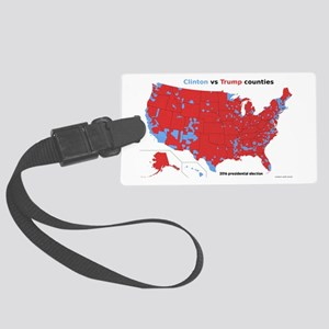 Trump vs Clinton Map Large Luggage Tag