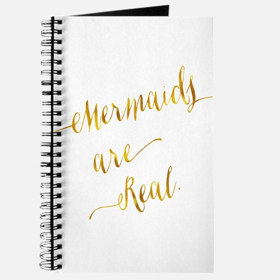 Mermaids are Real Gold Faux Foil Metallic Journal