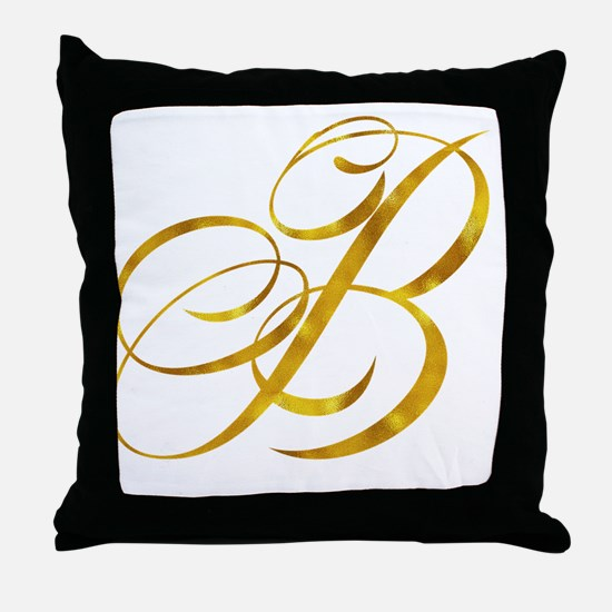 Cute Monogram b Throw Pillow