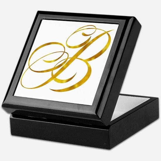 Metallic gold Keepsake Box