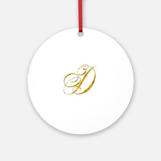 Cute Initial d Round Ornament
