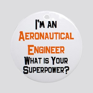 aeronautical engineer Round Ornament