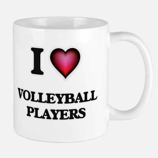 I love Volleyball Players Mugs