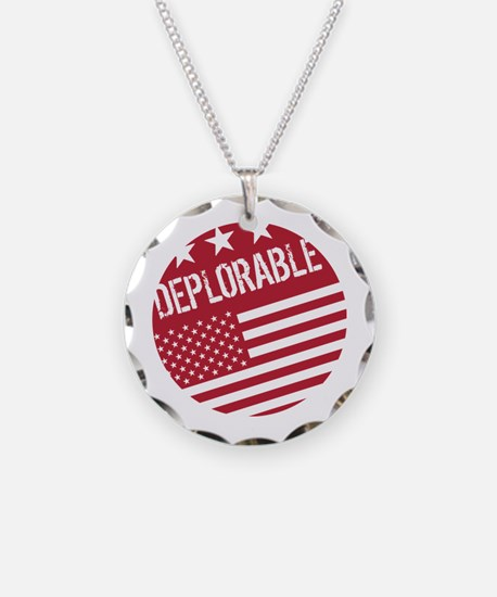 Donald Trump Supporter: Deplorable (Red) Necklace