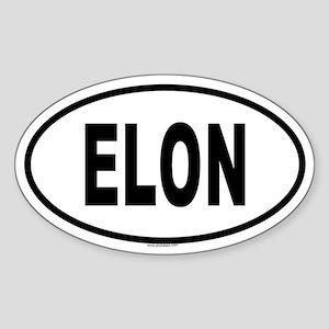 ELON Oval Sticker