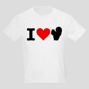 I Heart Squirrels Kids Light T-Shirt