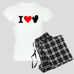 I Heart Squirrels Women's Light Pajamas