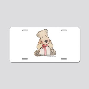 wheaten with Aluminum License Plate