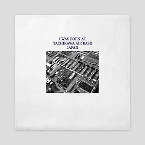 I was born at Tachikawa Air Base Japan Queen Duvet