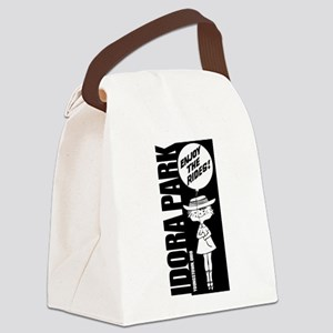 Idora Park Balloon B&W Canvas Lunch Bag