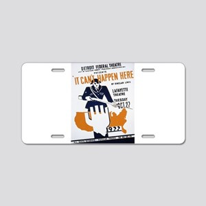 Vintage poster - It Can't H Aluminum License Plate