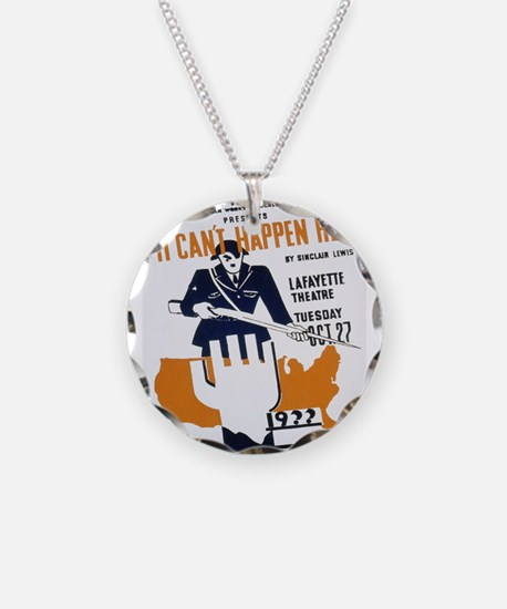 Vintage poster - It Can't Ha Necklace