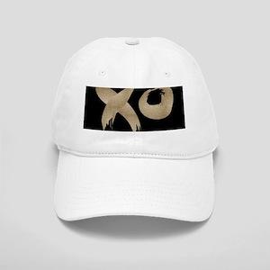 brushstroke black gold XOXO Cap
