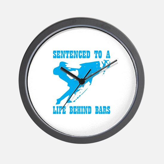 Sentenced To A Life Behind Bars Wall Clock