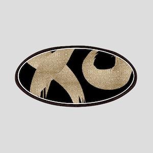 brushstroke black gold XOXO Patch