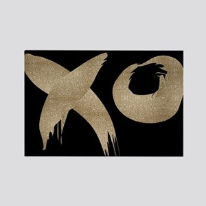 brushstroke black gold XOXO Magnets