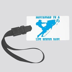 Sentenced To A Life Behind Bars Large Luggage Tag