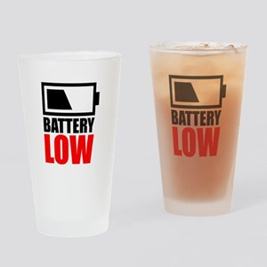 Battery Low Drinking Glass