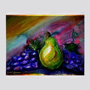 Fruit, Pears, grapes! Bright art! Throw Blanket