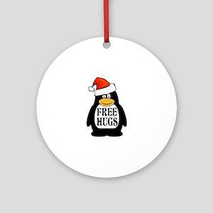 Hugs the Penguin Round Ornament